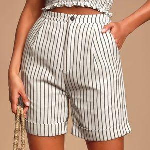 Stripe Bermuda Shorts